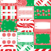 Peppermint Scented Wrapping Paper Tags