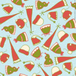 Scarves and Mittens Wrapping Paper Design 1