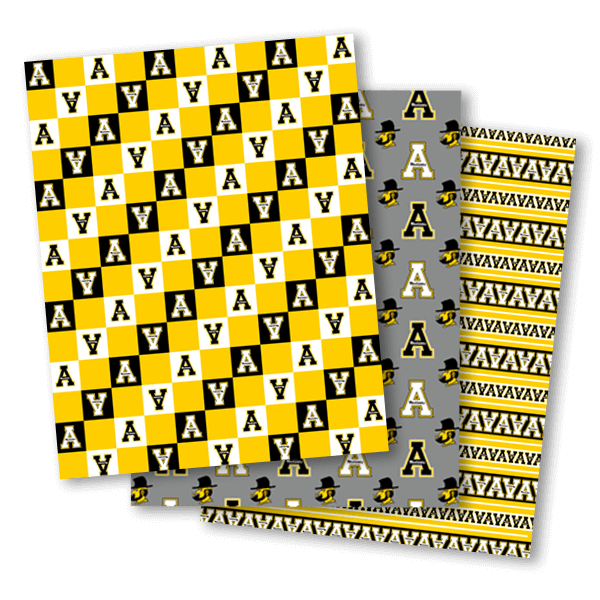 App State Wrapping Paper Designs