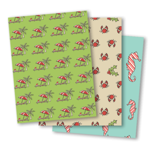 Ocean Scented Wrapping Paper