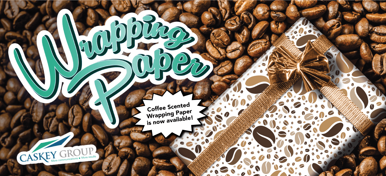Coffee Scented Wrapping Paper